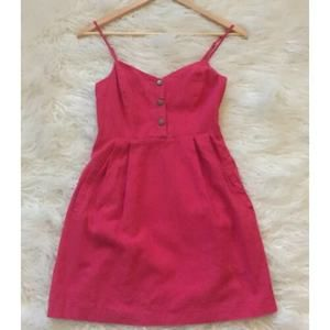 UO Cope Smocked Back Button Front Dress Size Small